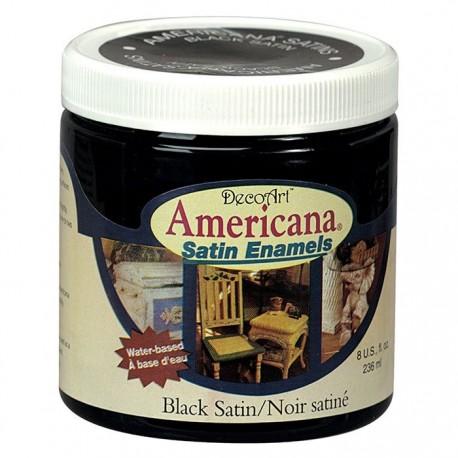 Americana Satin BLACK SATIN