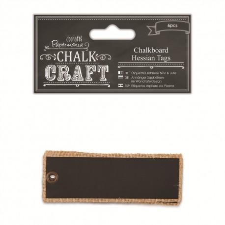 Chalkboard Yute tags