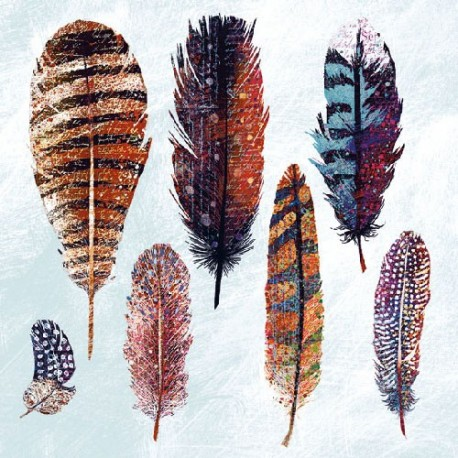 SERVILLETAS- Feathers