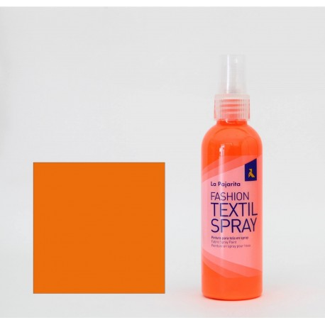 Pintura Textil en Spray FLUOR ORANGE