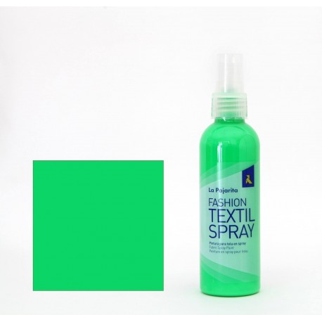 Pintura Textil en Spray FLUOR GREEN