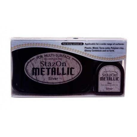 Tinta STAZON METALLIC Silver