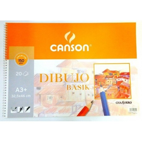 Bloc espiral dibujo CANSON A3+