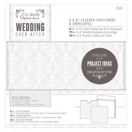 WEDDING Postales, fundas y sobres