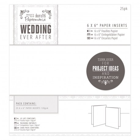 WEDDING Encartes de Pergamino