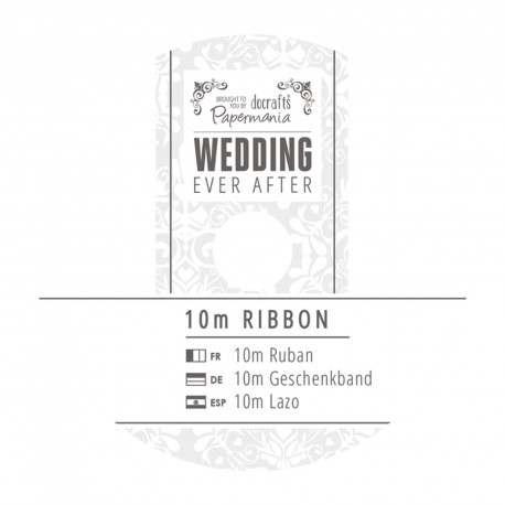 WEDDING Cinta Impresa plata