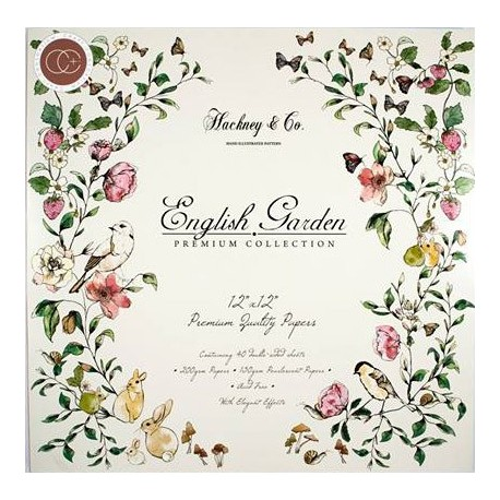 Papeles ENGLISH GARDEN de craft Consortium