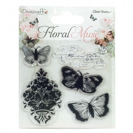 FLORAL MUSE Sellos Butterfly