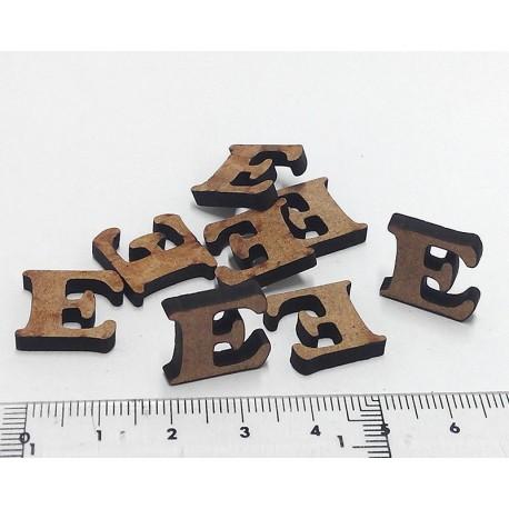 -E- Mini letra DM