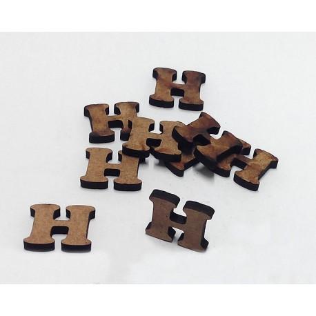 -H- Mini Letra 1,5cm DM