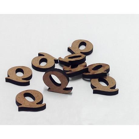 -Q- Mini Letra 1,5cm DM