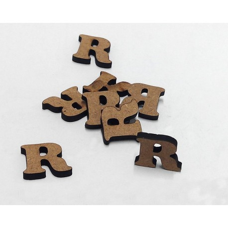 -R- Mini Letra 1,5cm DM