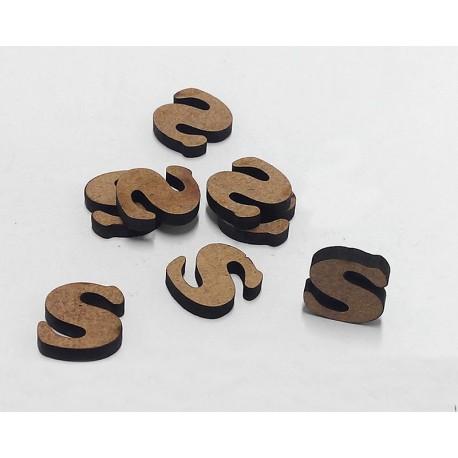 -S- Mini Letra 1,5cm DM