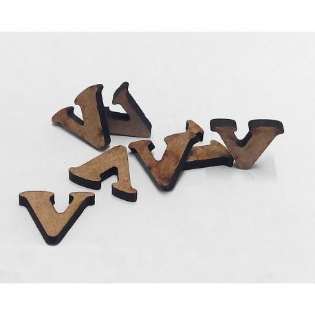 -V- Mini Letra 1,5cm DM