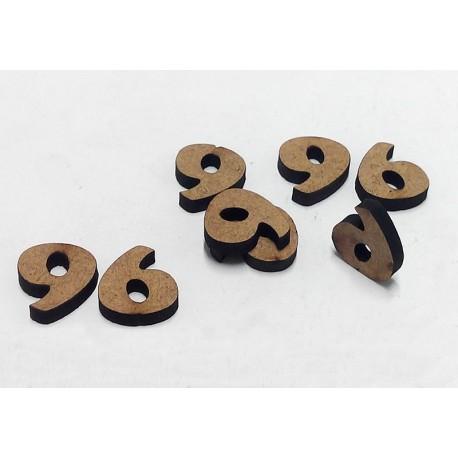 -9- Mini Número 1cm DM