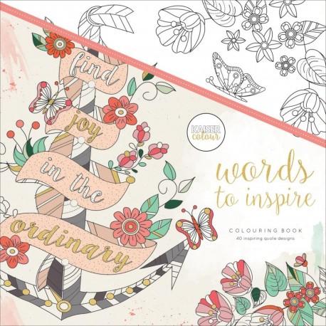 WORDS TO INSPIRE Libro para colorear