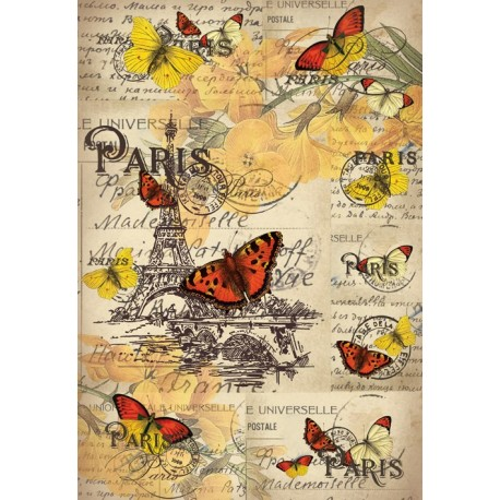 Papel de Arroz MARIPOSAS EN PARIS