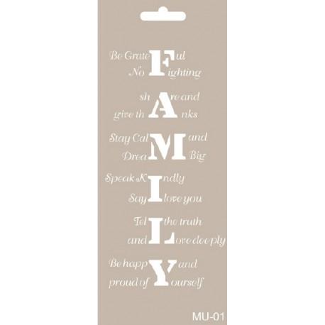 Stencil Mix Media FAMILY