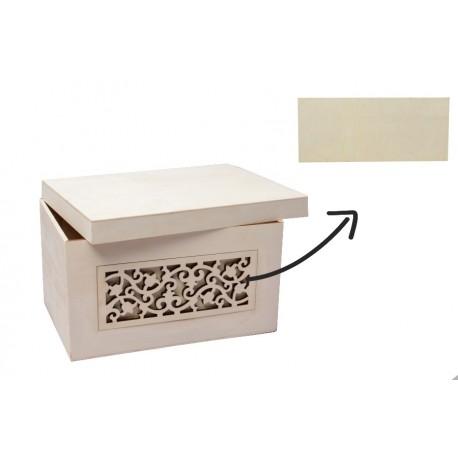 Caja con calado lateral