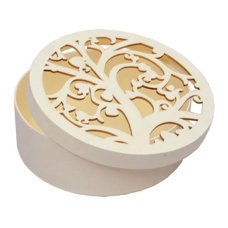 Caja circular con calados