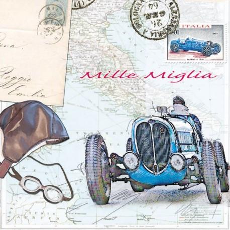 SERVILLETAS-  Automóvil Mille Miglia