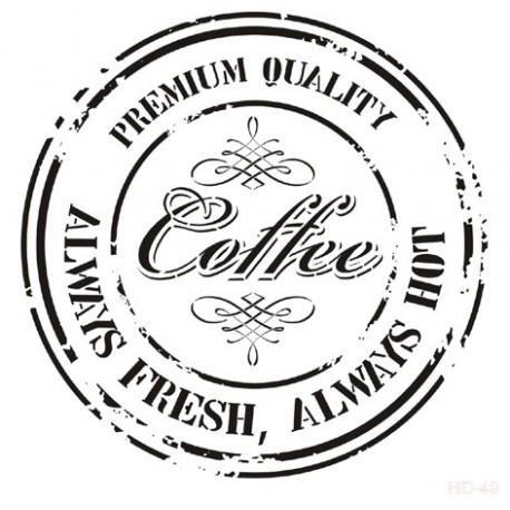 Stencil SELLO COFFEE 45x45cm