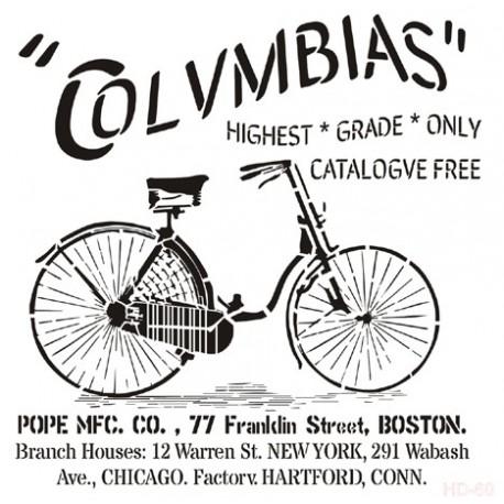 Stencil BICI COLUMBIAS 45x45cm