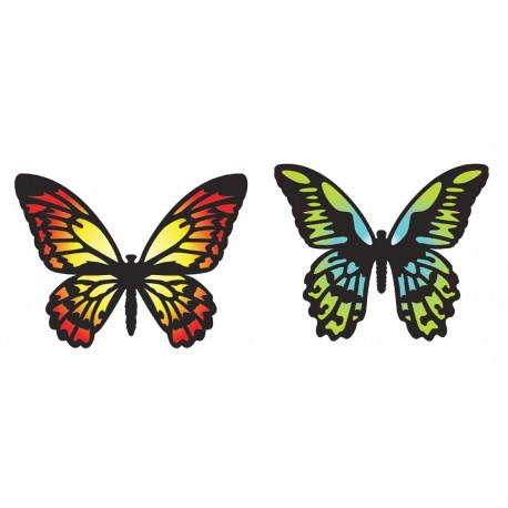 Troquel Thinlits DETAILED BUTTERFLIES