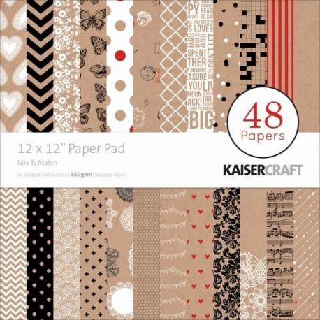 Papeles 30x30 MIX & MATCH KaiserCraft