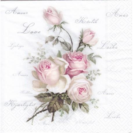 SERVILLETAS- Love Rose