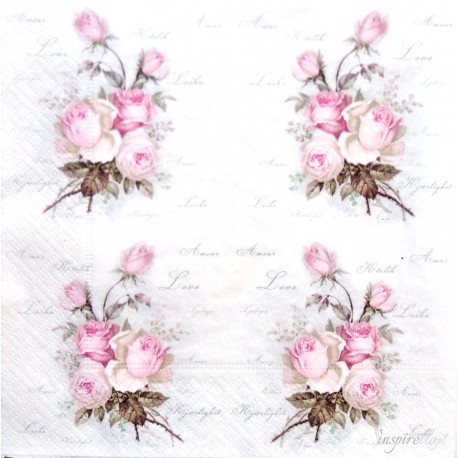 SERVILLETAS- Small Love Roses