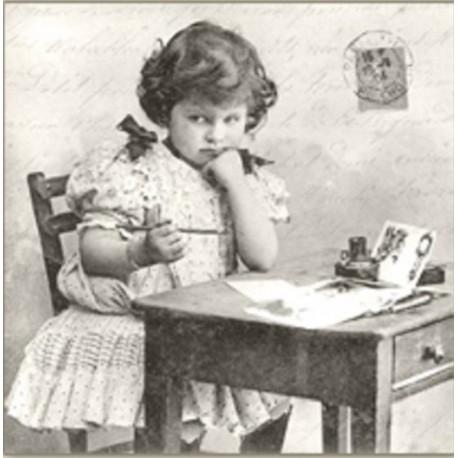 SERVILLETAS- Vintage Girl Writing