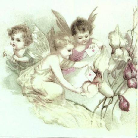 SERVILLETAS- Vintage Love Letter Bouquet