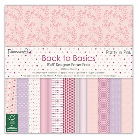 Back to Basics PRETTY IN PINK 20X20