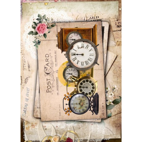 Papel de Arroz RELOJES POST CARD