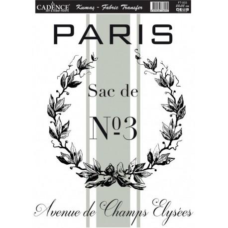 Transfer para TEJIDOS Paris Nº3