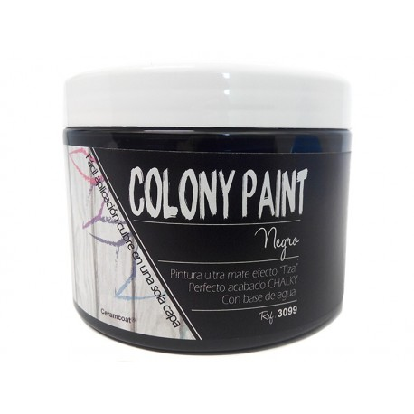 Colony Paint NEGRO Chalky 650gr. ARTESANIAS MONTEJO