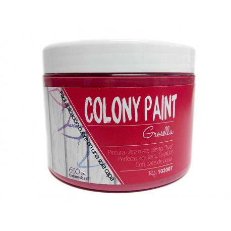 Colony Paint GROSELLA Chalky 650gr. ARTESANIAS MONTEJO