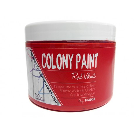 Colony Paint RED VELVET Chalky 650gr. ARTESANIAS MONTEJO