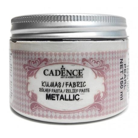 Pasta de Relieve Textil METALLIC Perla CADENCE distribuida en España por Artesanías Montejo