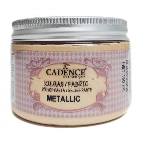 Pasta de Relieve Textil METALLIC Champán CADENCE distribuido en España por Artesanías Montejo