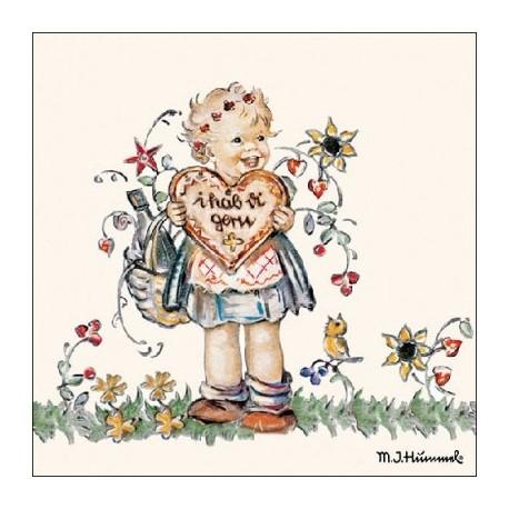 SERVILLETAS- Valentine Gift para decoupage en Artesanias Montejo