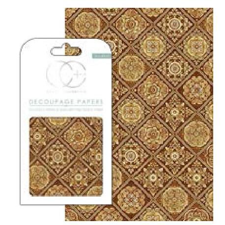 DECOUPAGE Baldosas Golden Tiles de Craft Consortium en Artesanías Montejo