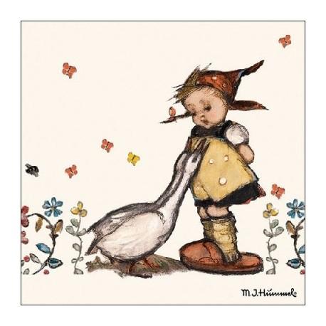 SERVILLETAS- Goose Girl para decoupage distribuidas por Artesanías Montejo
