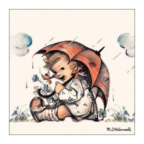 SERVILLETAS- Umbrella Girl para decoupage distribuidas por artesanías montejo