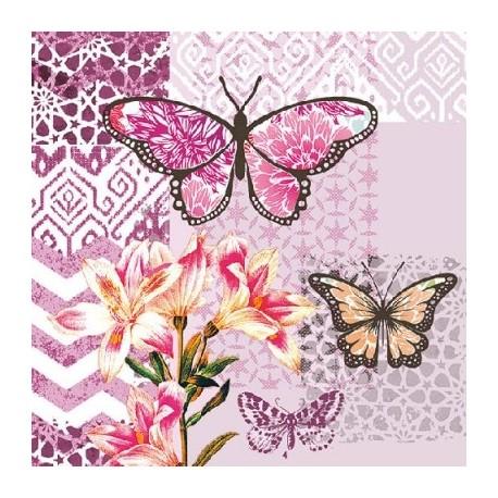 SERVILLETAS-  Garden of Joy  para decoupage distribuidas por Artesanías Montejo