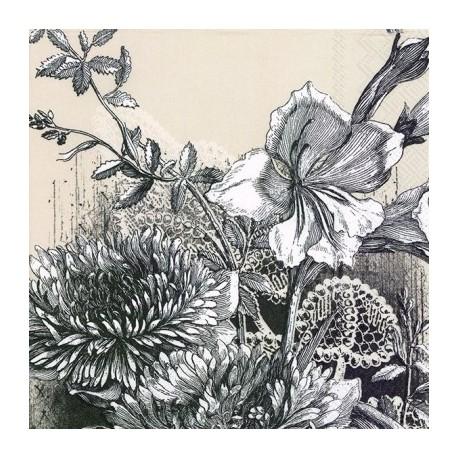 SERVILLETAS- Fleur Linen para decoupage distribuida por Artesanías Montejo