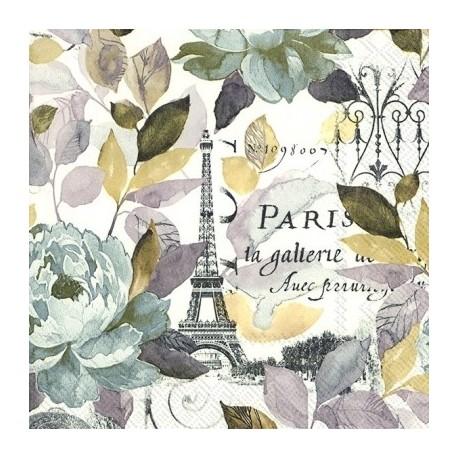 SERVILLETAS- Jardín Paris para decoupage en Artesanías Montejo
