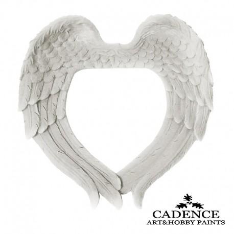 Corazón Alas Plegadas Resina de poliuretano CADENCE Distribuido por Artesanías Montejo