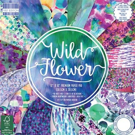 Wild Flower 30x30 de First Edition para scrapbook distribuido por Artesanías Montejo